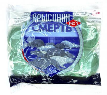 Родентицид Крысиная смерть №1 тесто в фильтр-пакетах, 100 г