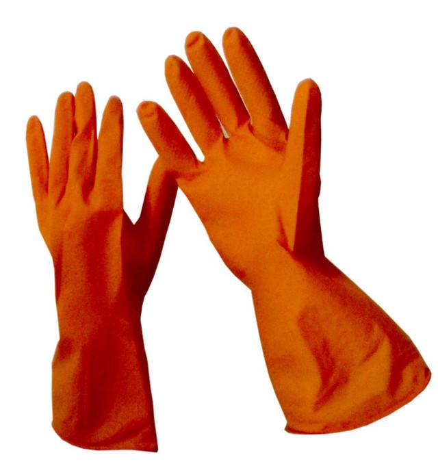 Перчатки хозяйственные латексные резиновые
